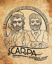 Scarpa Barber Shop Logo